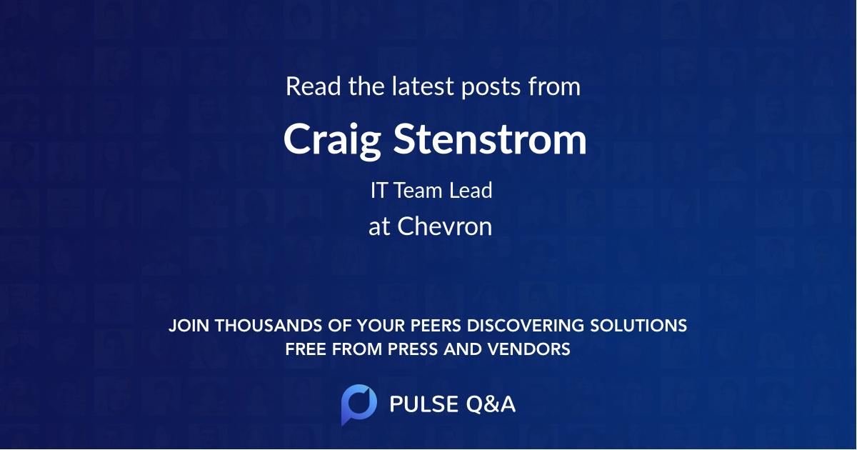 Craig Stenstrom