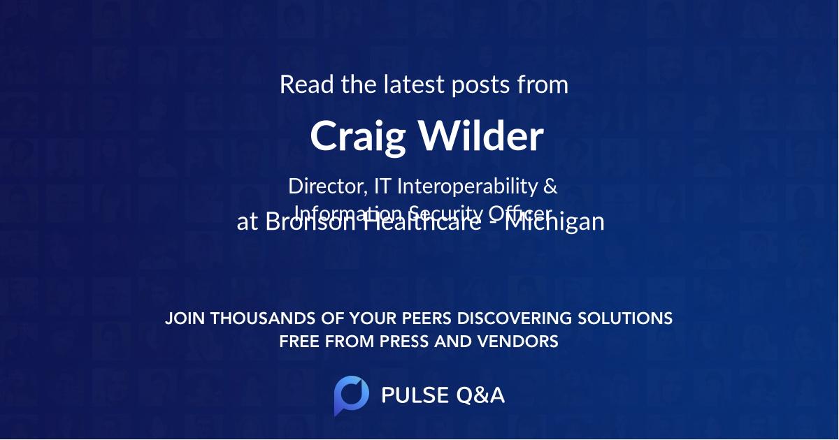 Craig Wilder