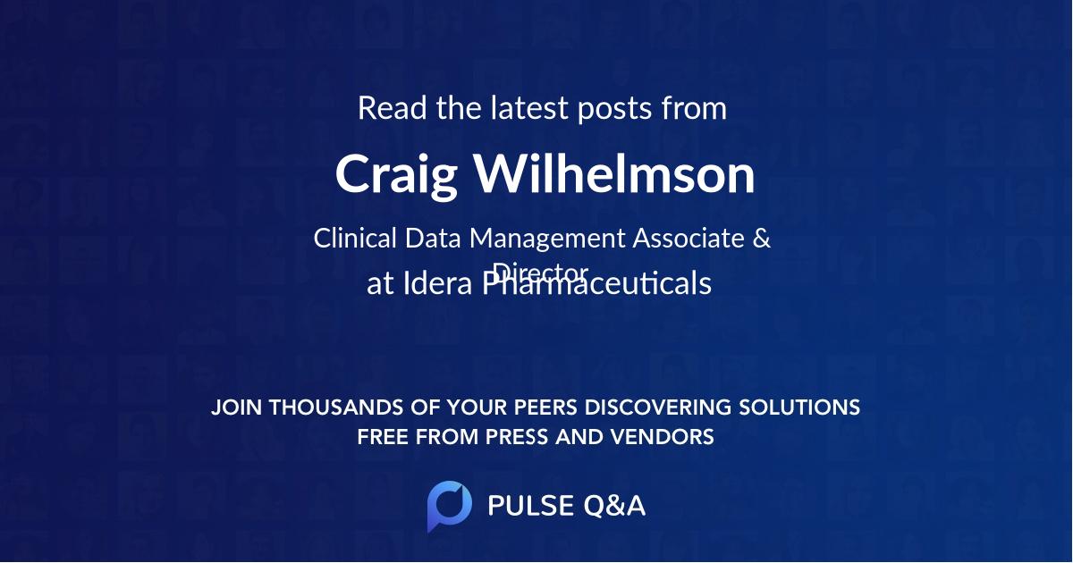 Craig Wilhelmson