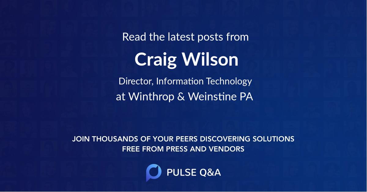 Craig Wilson