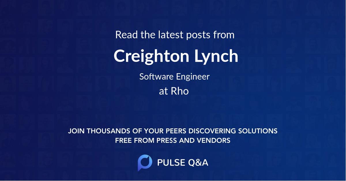 Creighton Lynch