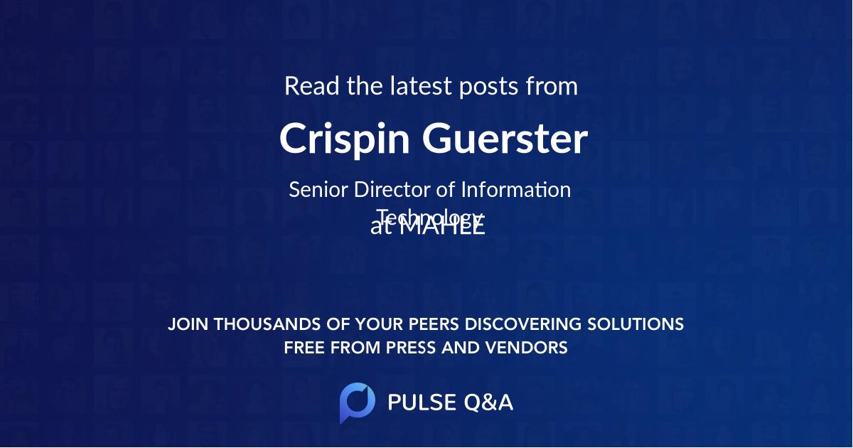 Crispin Guerster