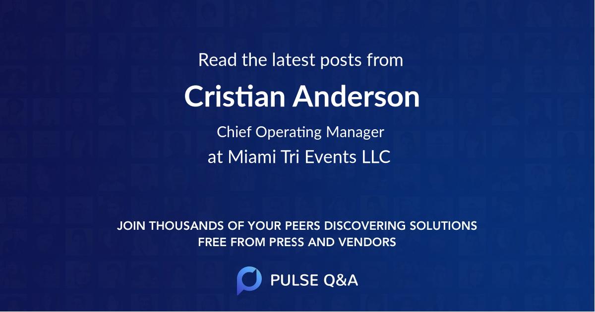 Cristian Anderson