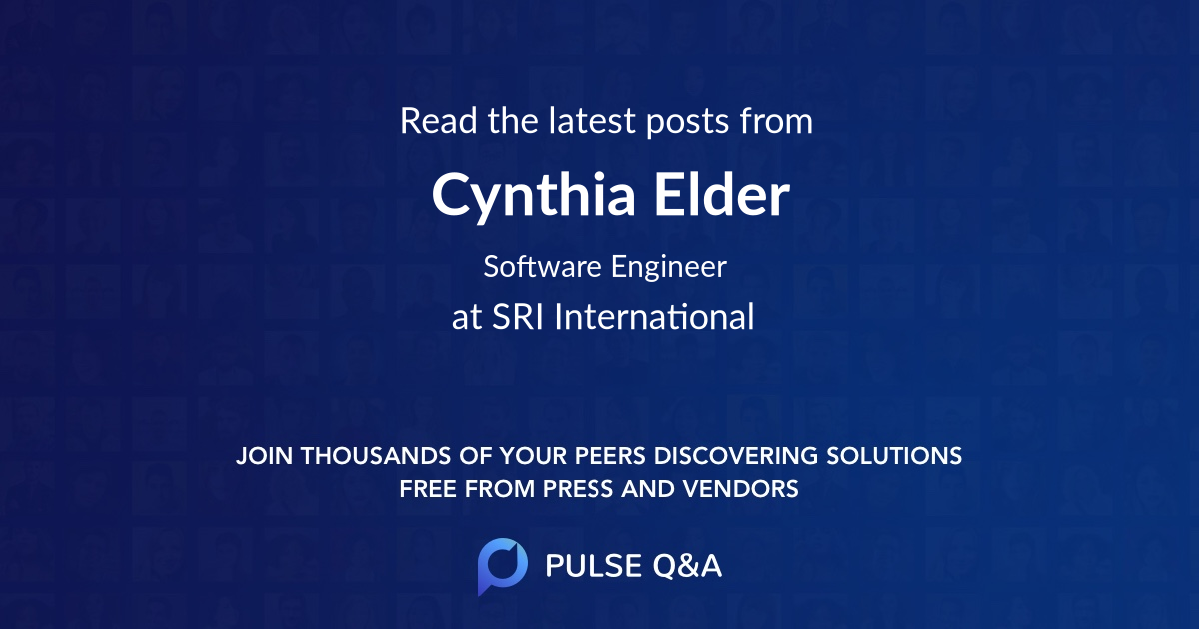 Cynthia Elder