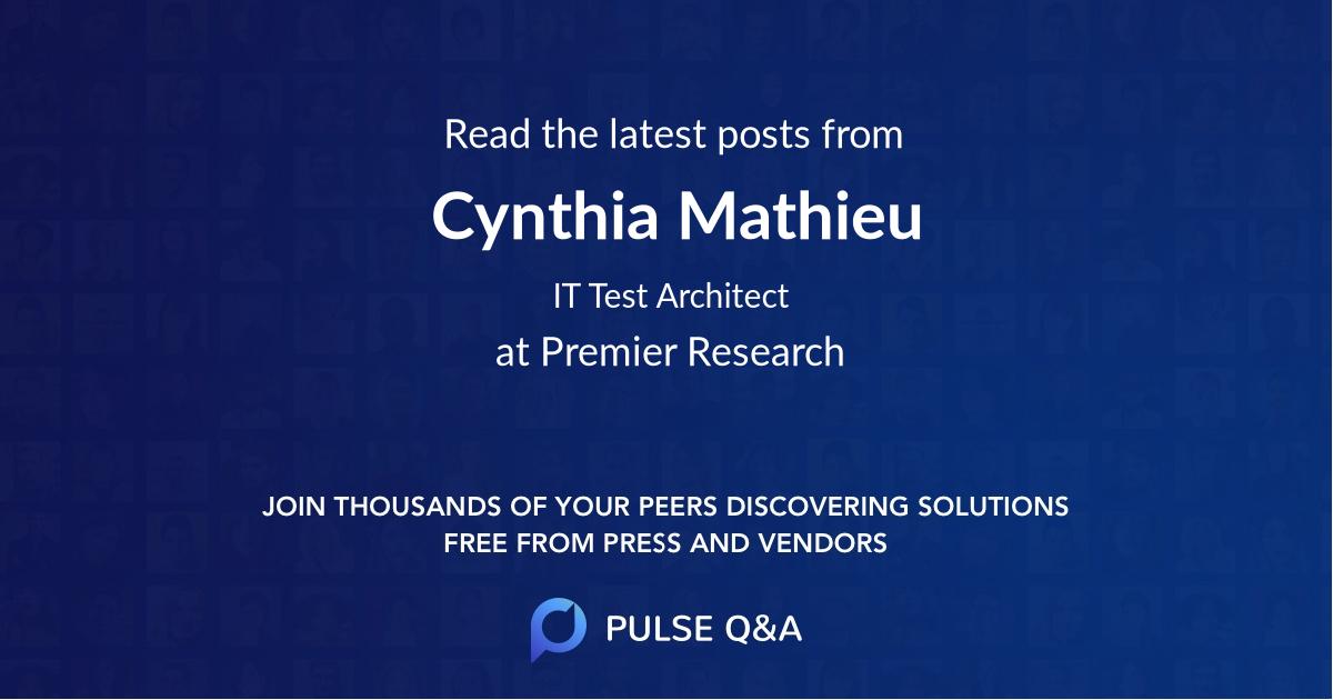 Cynthia Mathieu