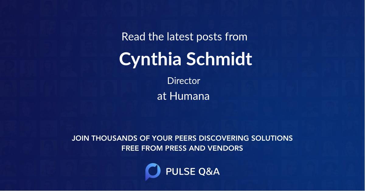 Cynthia Schmidt