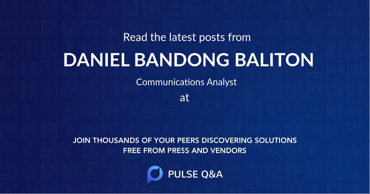 DANIEL BANDONG BALITON