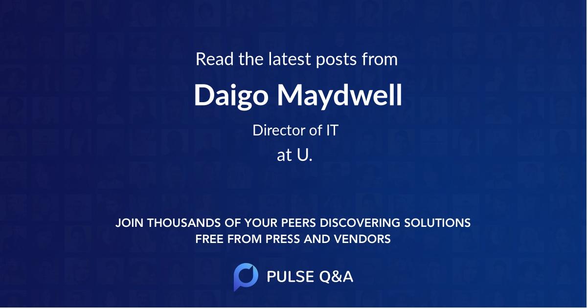 Daigo Maydwell