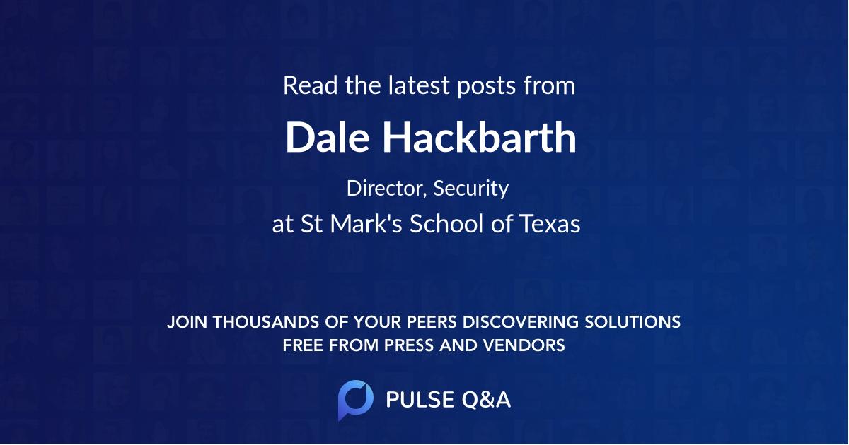 Dale Hackbarth