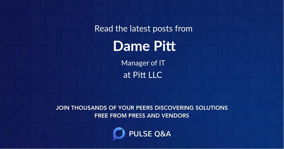 Dame Pitt