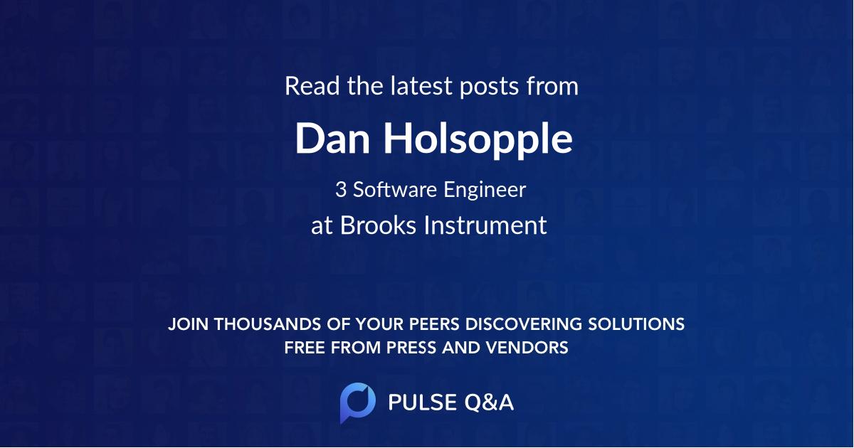 Dan Holsopple