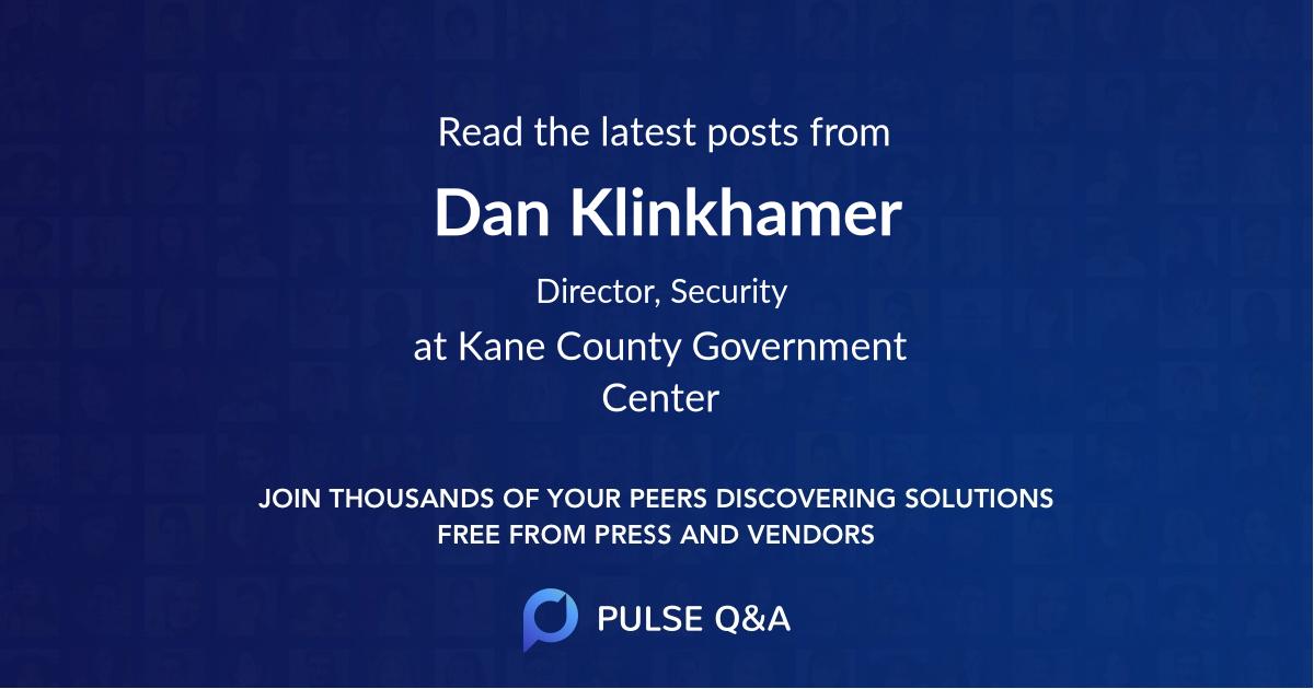 Dan Klinkhamer