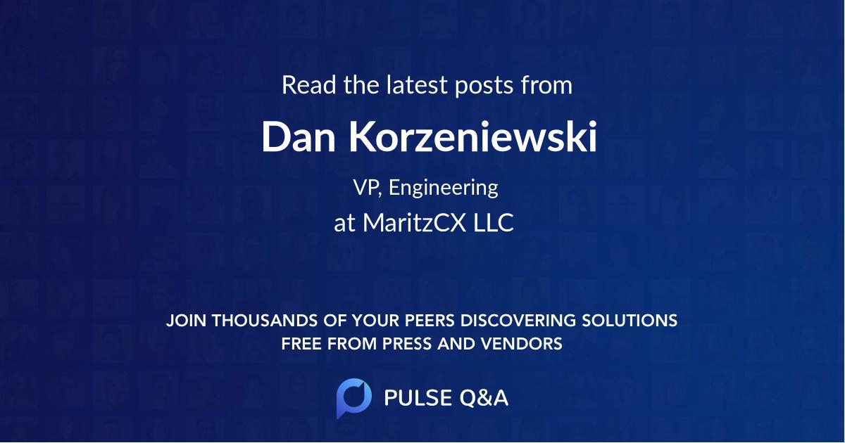 Dan Korzeniewski