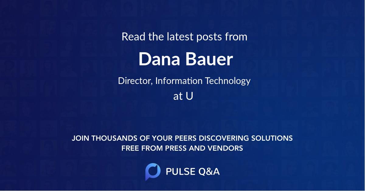 Dana Bauer