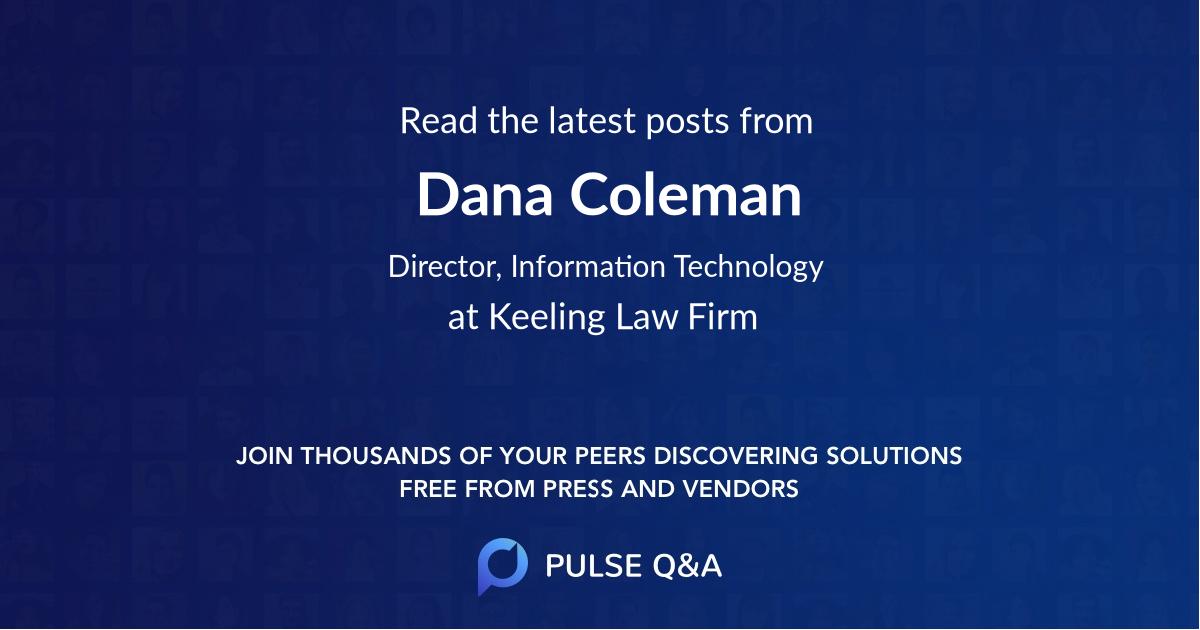 Dana Coleman