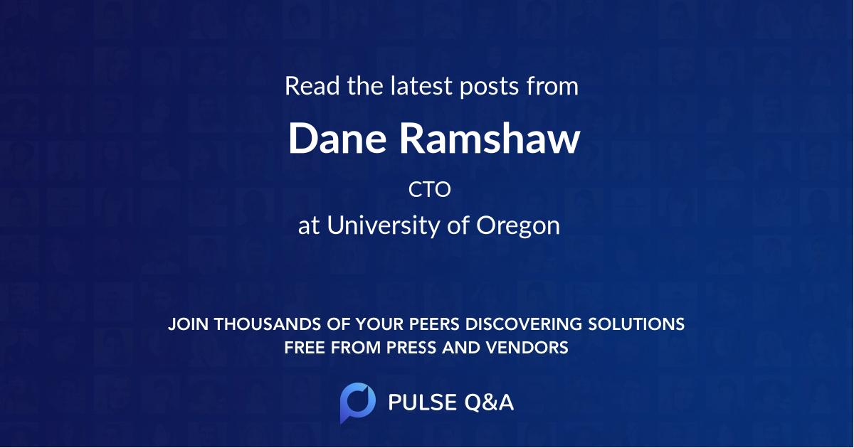 Dane Ramshaw