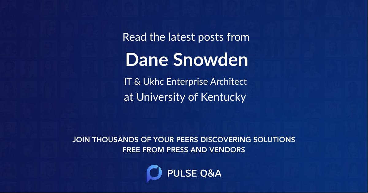 Dane Snowden