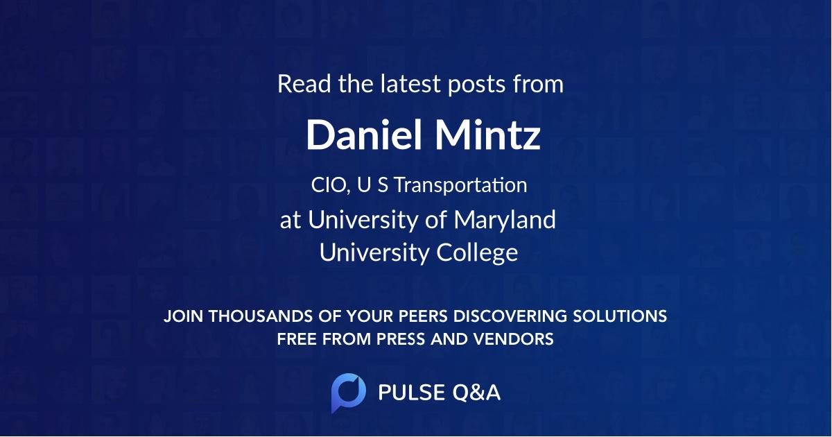 Daniel Mintz