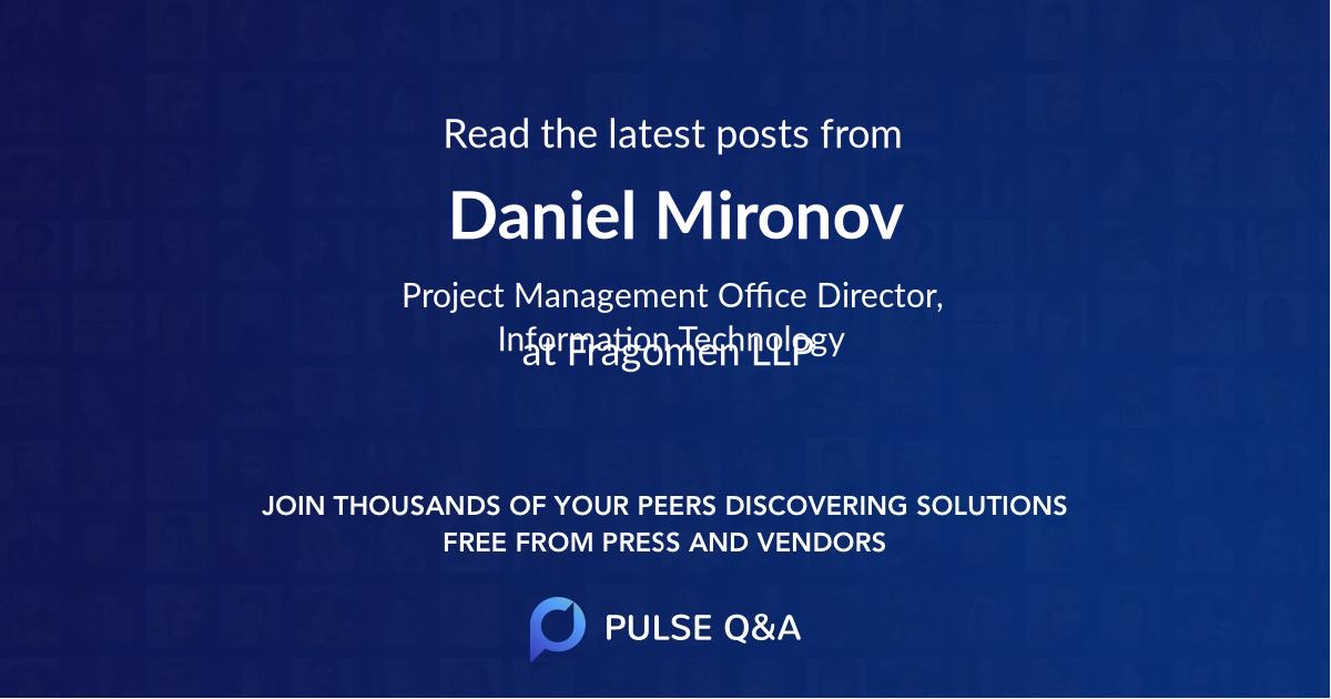 Daniel Mironov