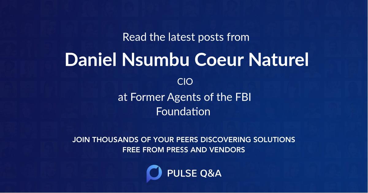Daniel Nsumbu Coeur Naturel