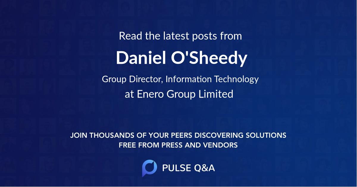 Daniel O'Sheedy