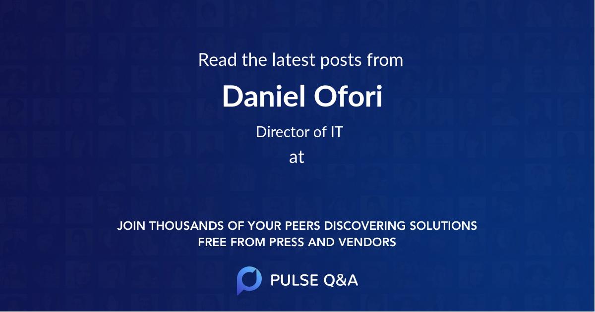 Daniel Ofori