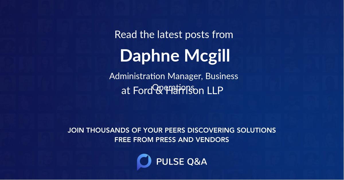 Daphne Mcgill