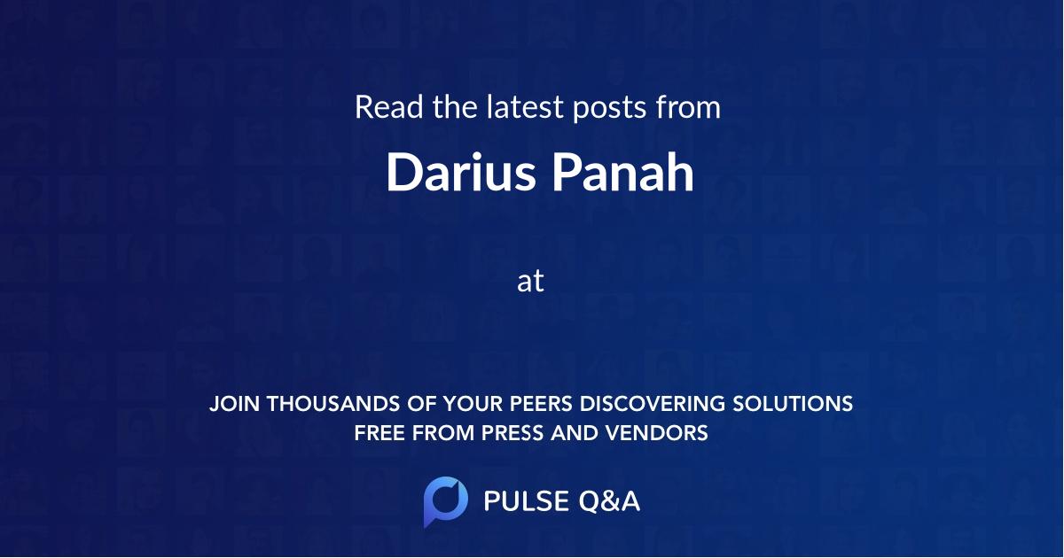 Darius Panah