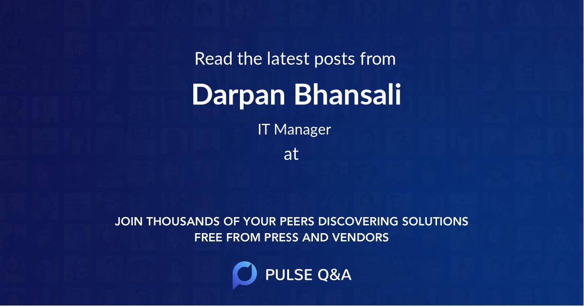 Darpan Bhansali