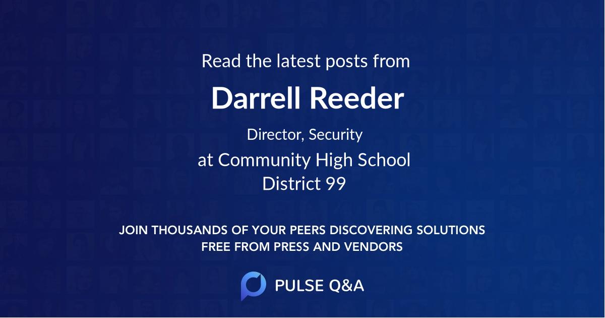 Darrell Reeder