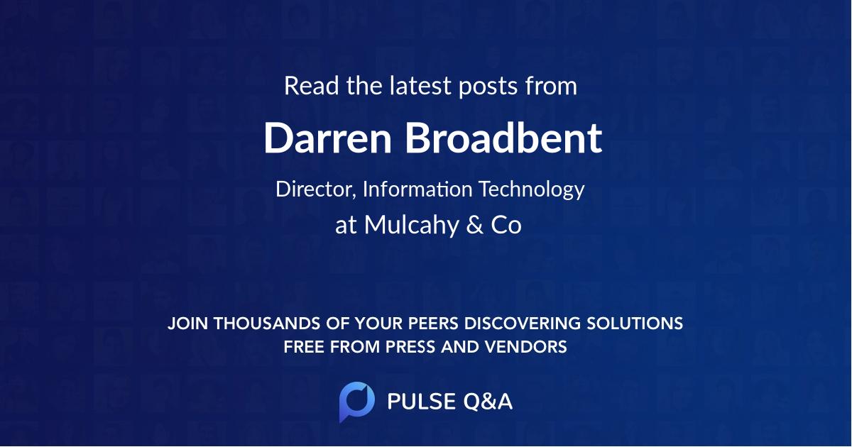 Darren Broadbent