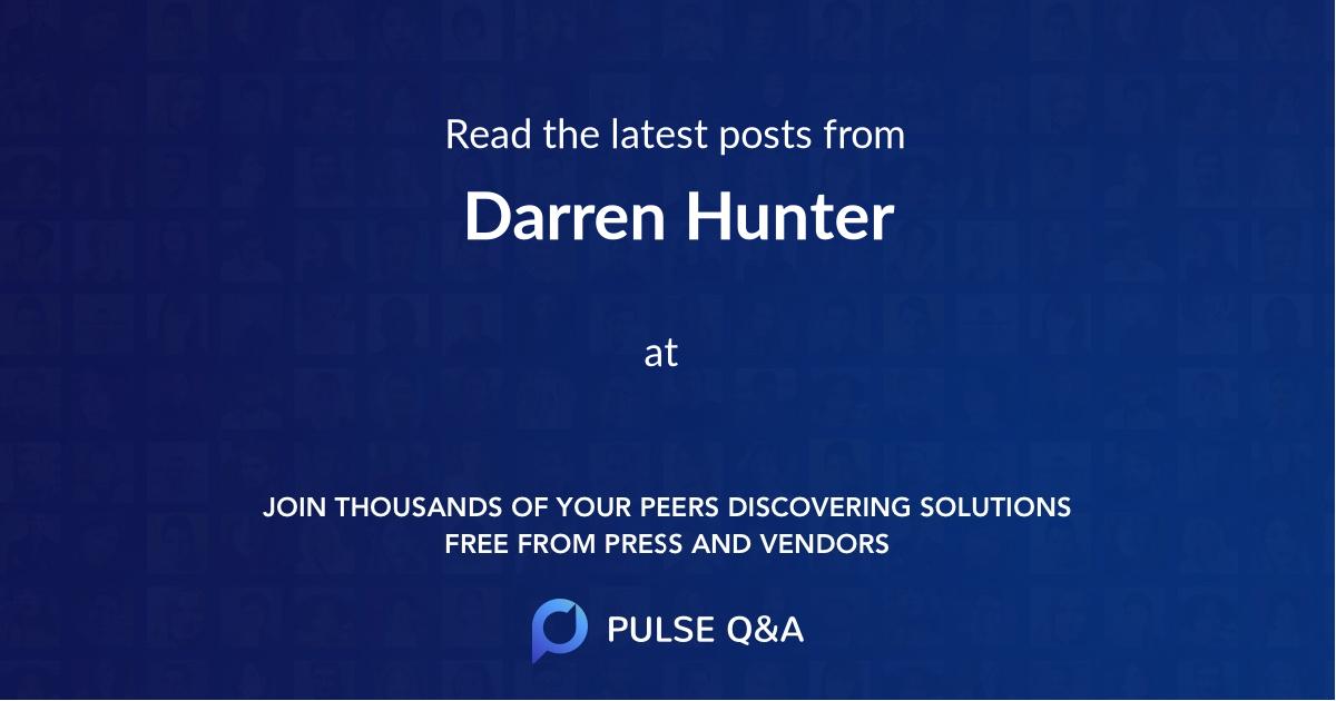 Darren Hunter