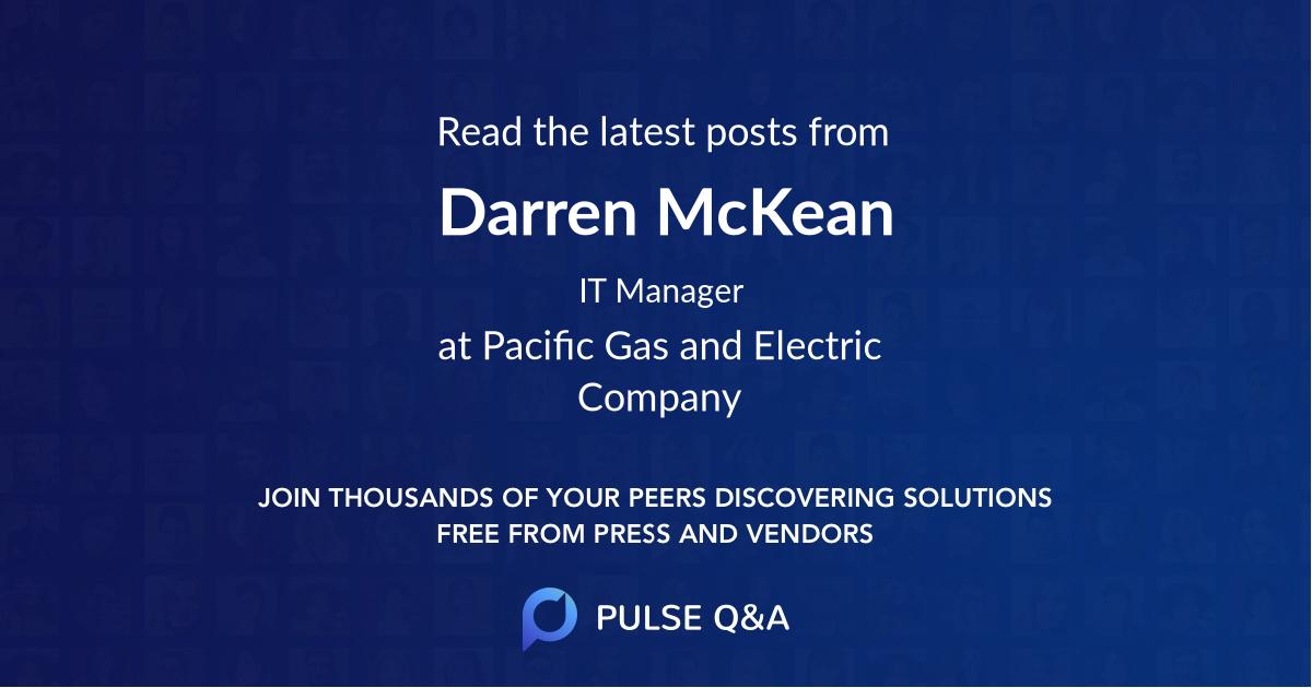 Darren McKean