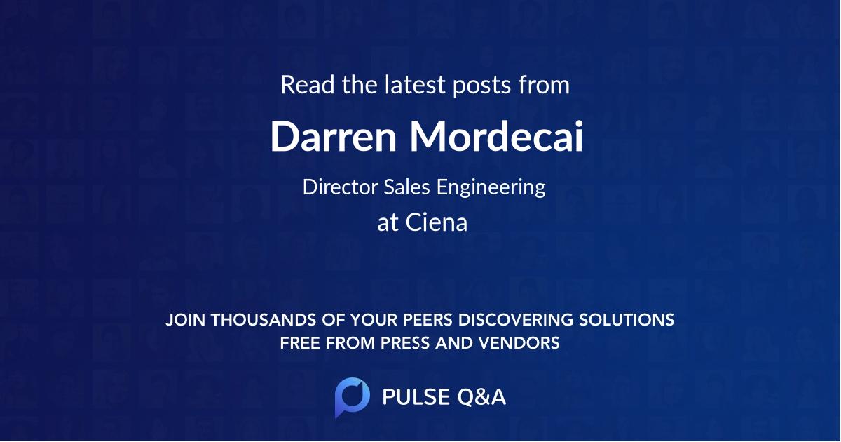 Darren Mordecai