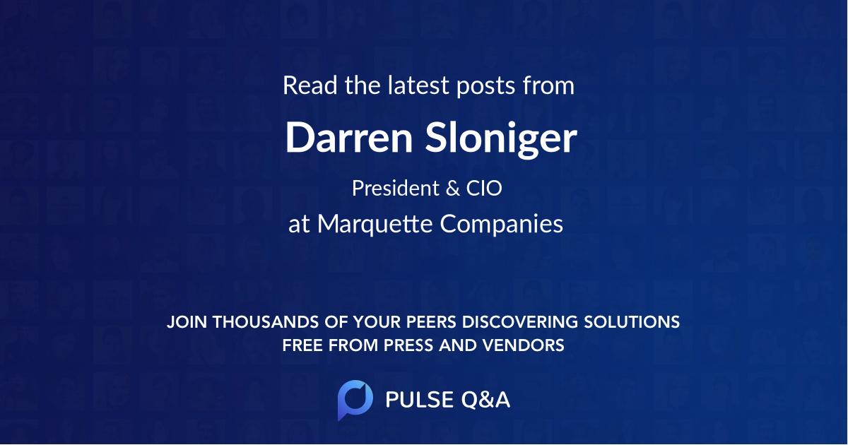 Darren Sloniger