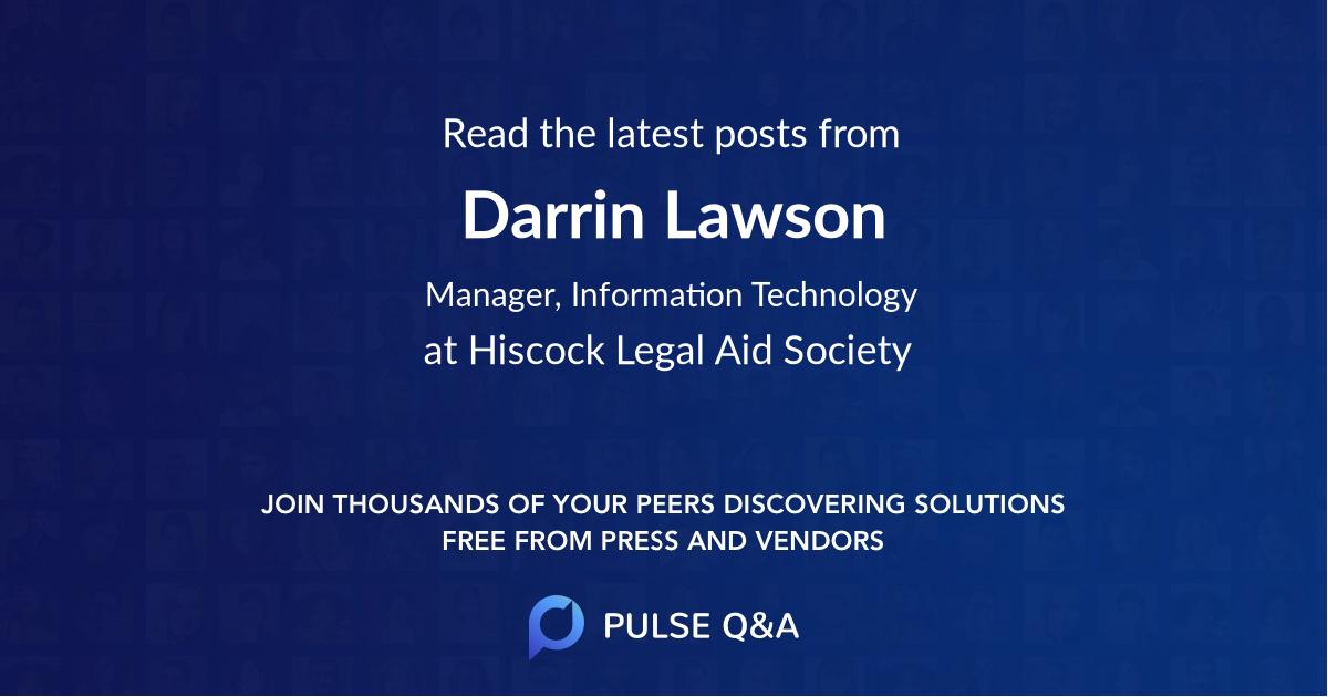 Darrin Lawson