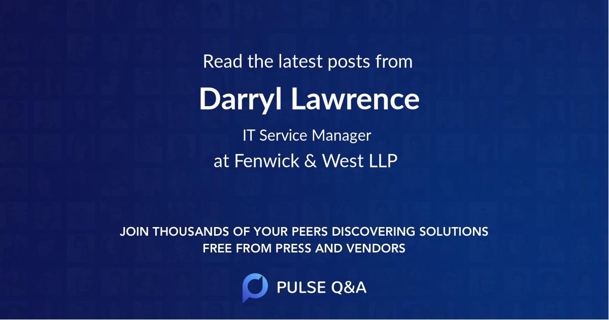 Darryl Lawrence