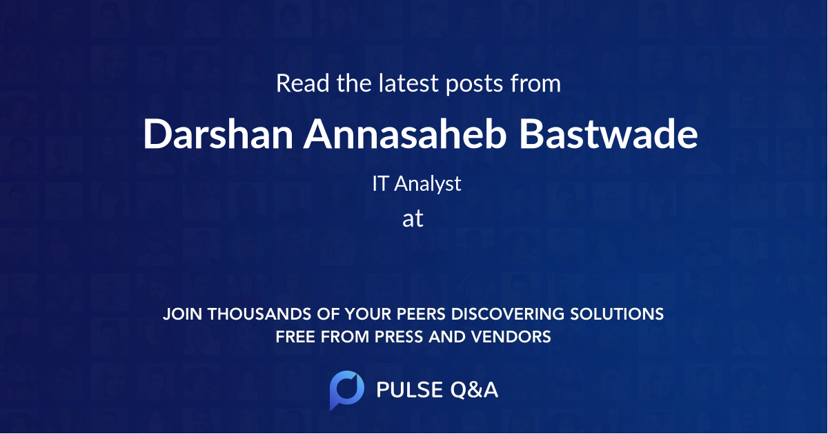 Darshan Annasaheb Bastwade