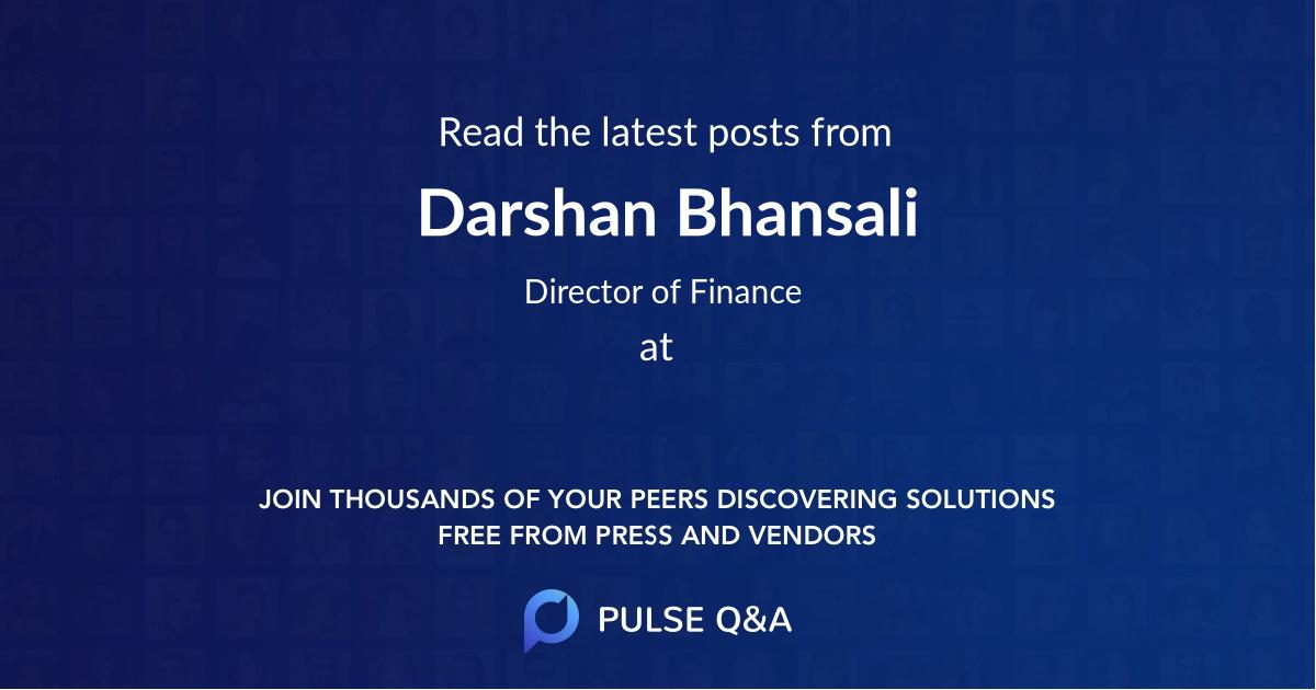 Darshan Bhansali