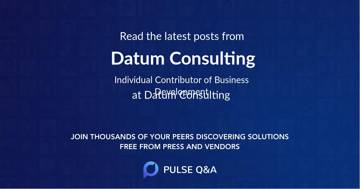 Datum Consulting