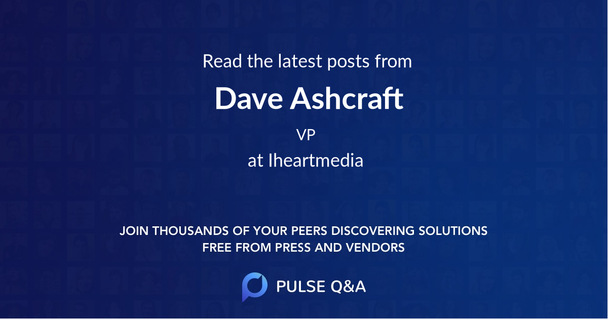Dave Ashcraft