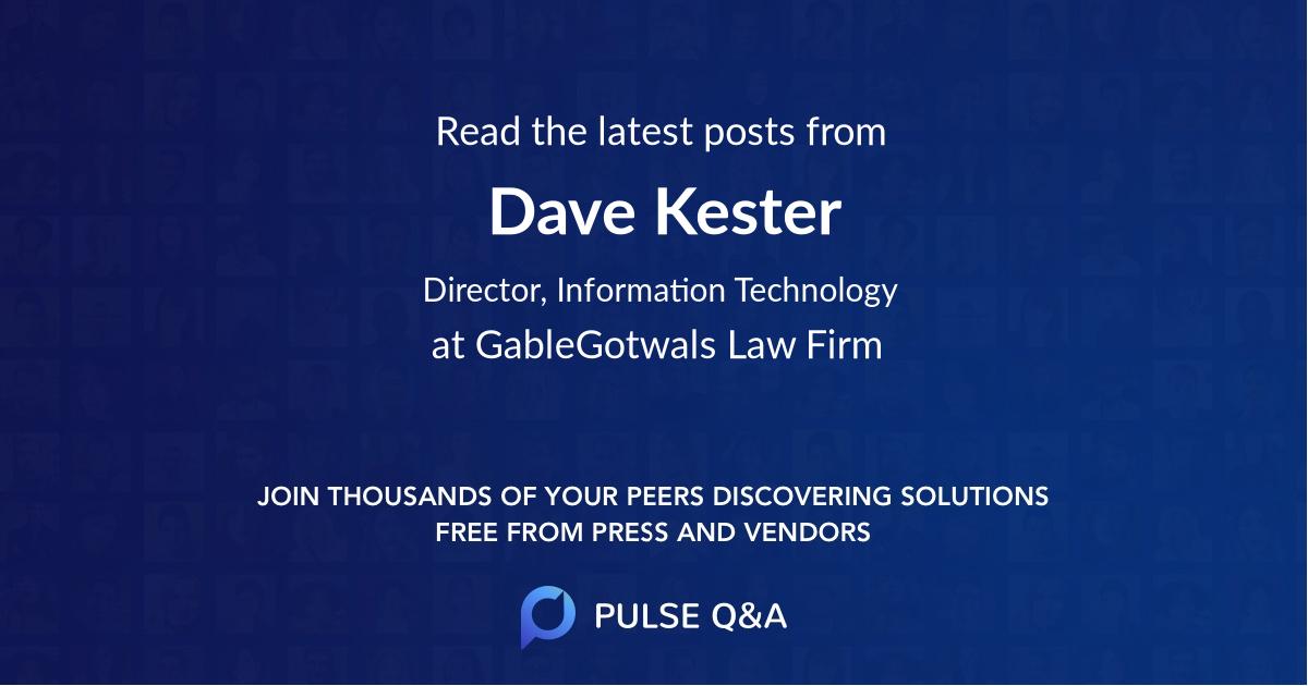 Dave Kester