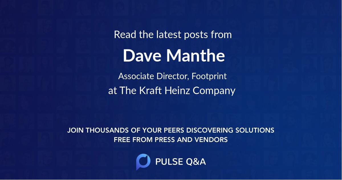 Dave Manthe