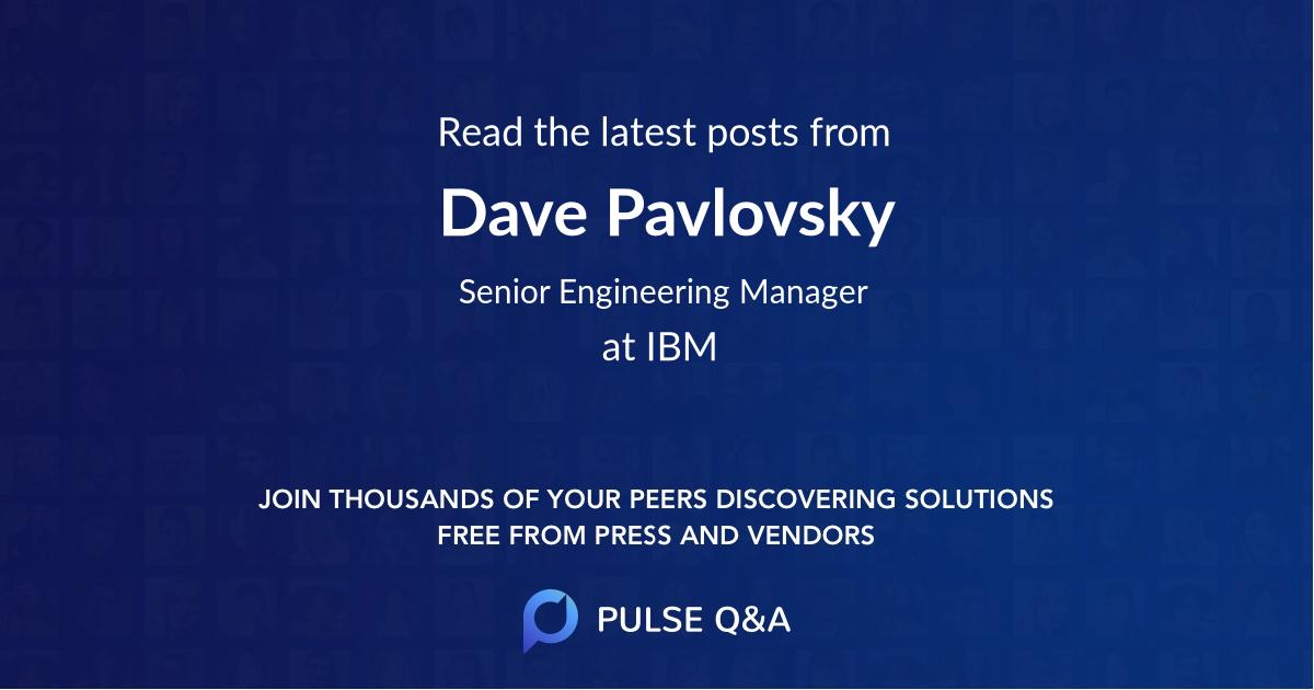 Dave Pavlovsky