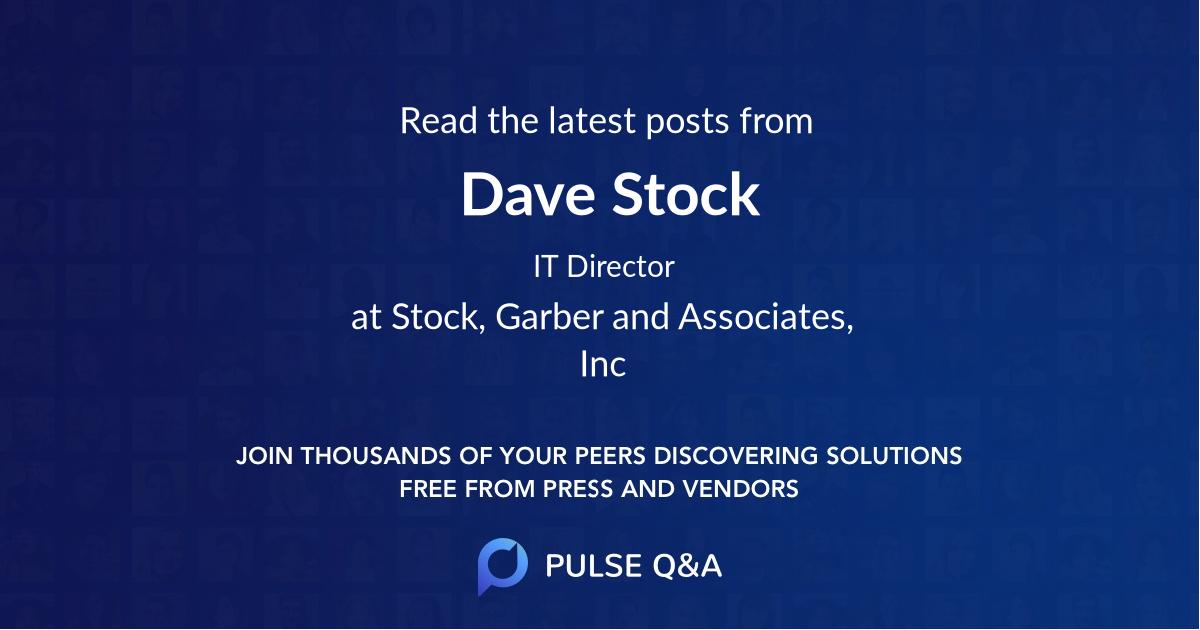 Dave Stock