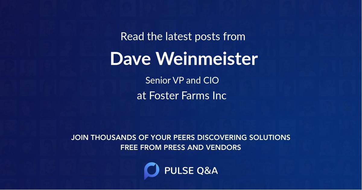 Dave Weinmeister