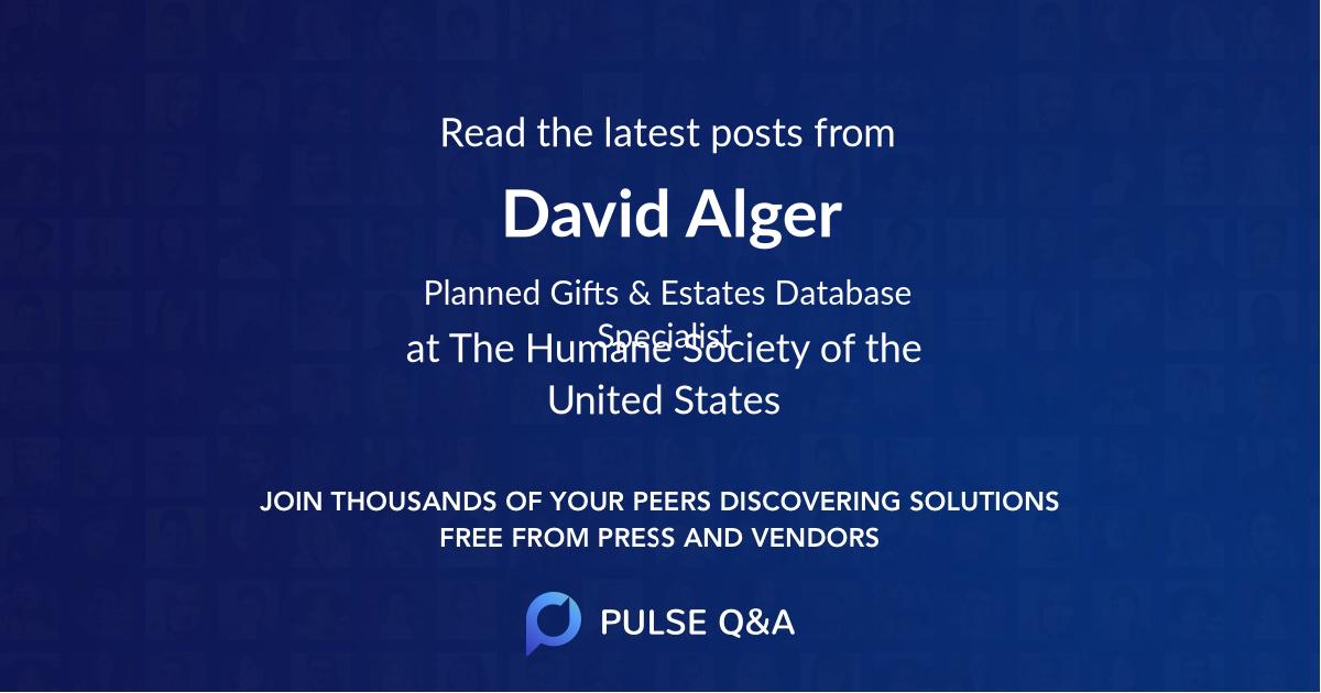 David Alger