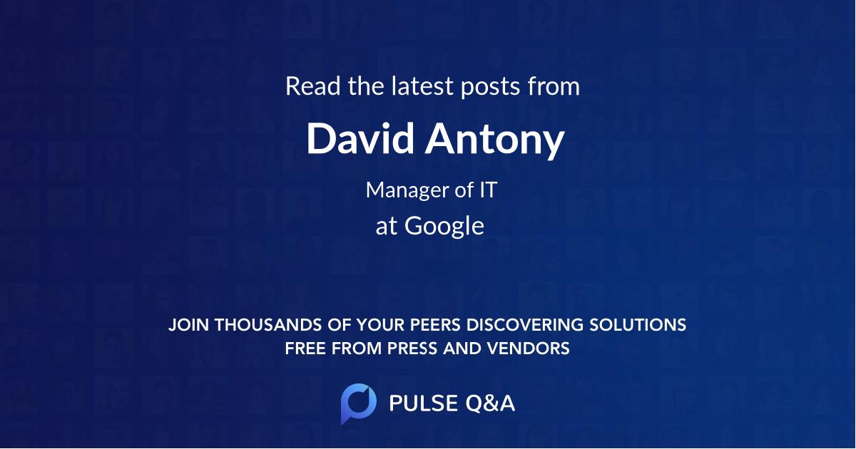 David Antony