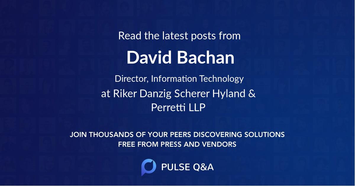 David Bachan