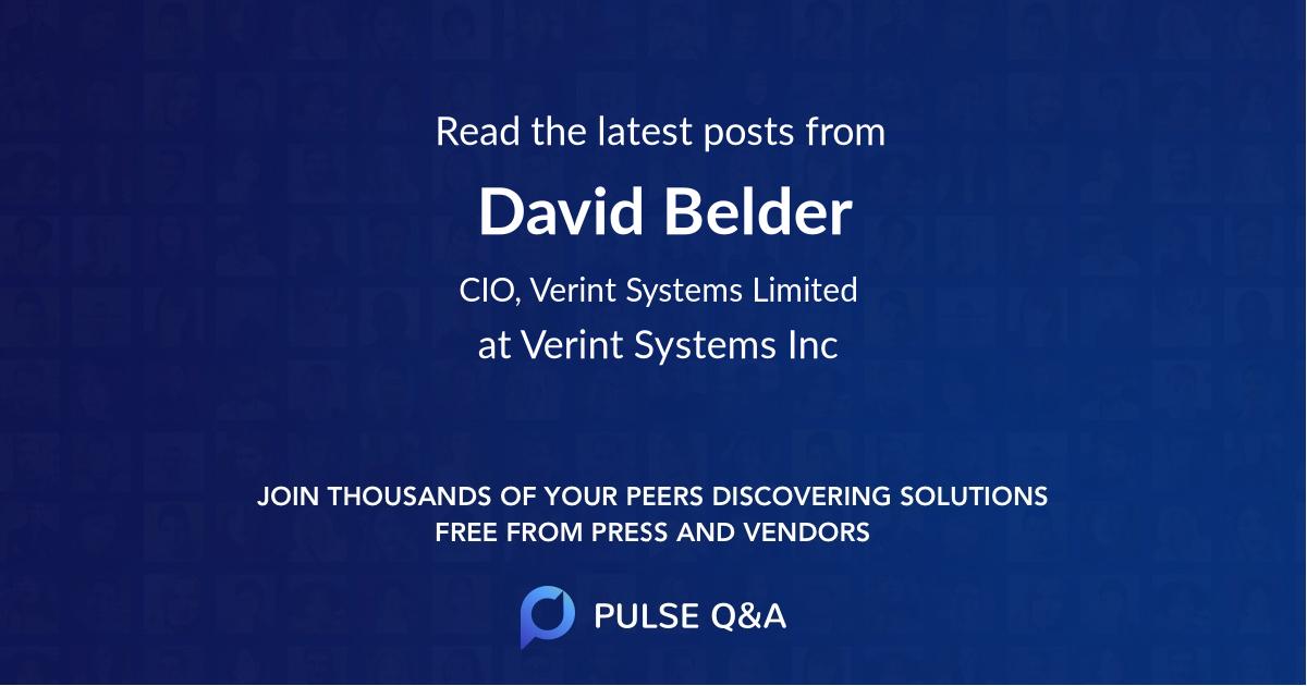 David Belder